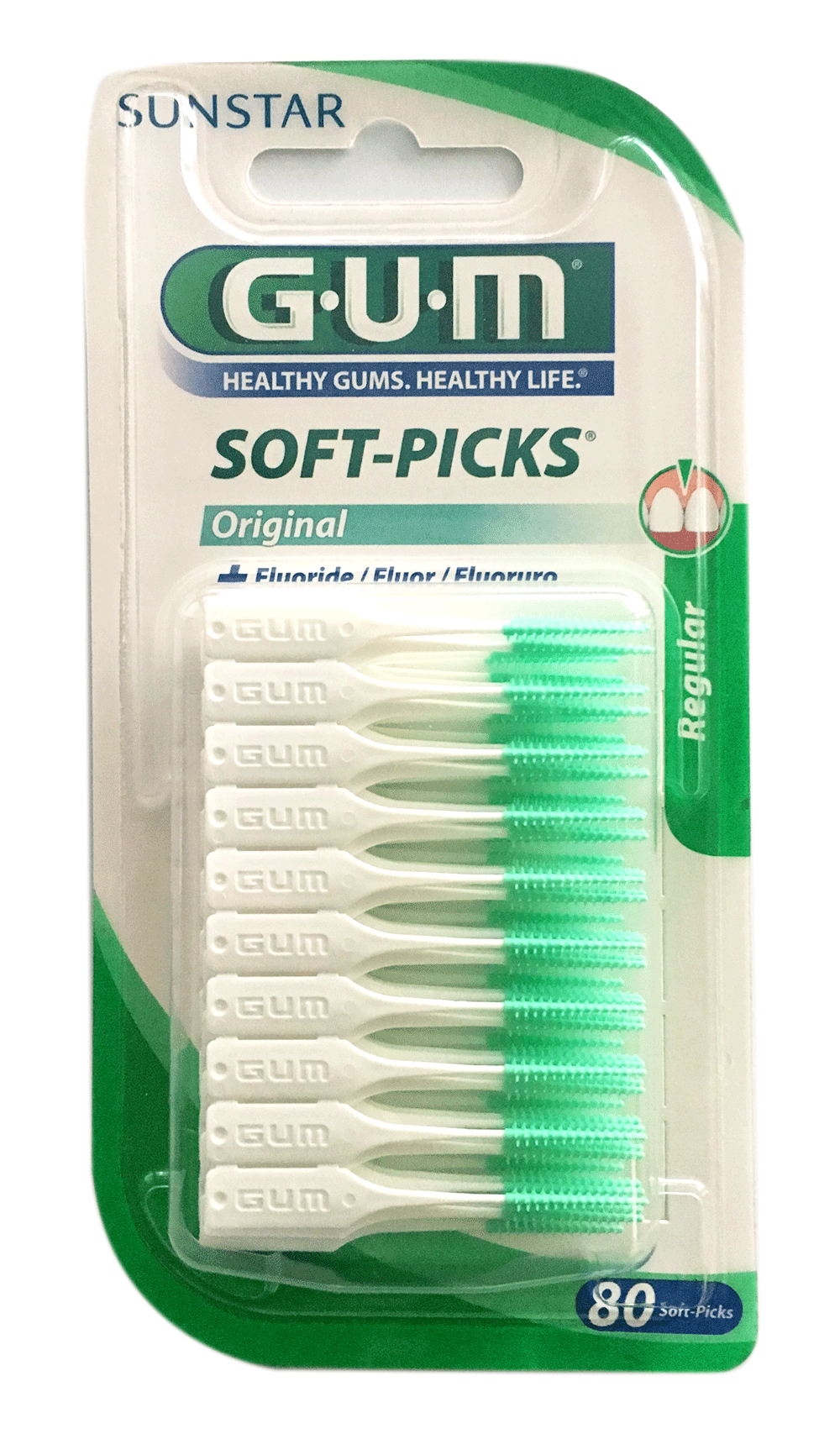 GUM Soft-Picks Reg. with Fluoride 80 (80 pack)