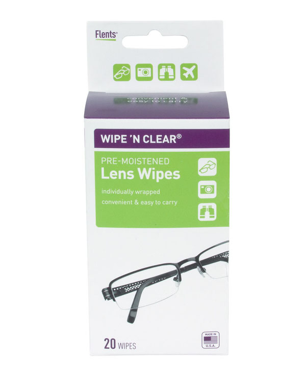 Wipe 'n Clear Pre-Moistened Lens Wipes (20 per pk)
