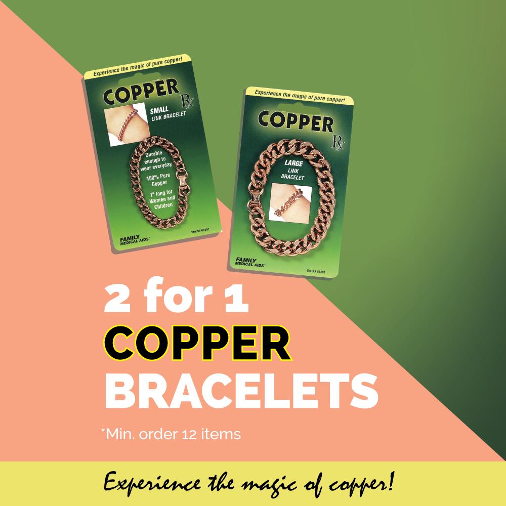 2 for 1 Deal - Copper Link Bracelet